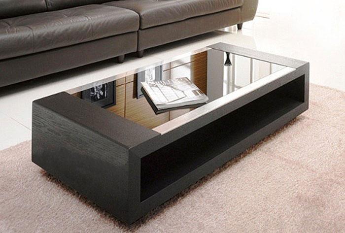 Bàn sofa gỗ uốn mặt kính, mẫu mã đẹp hấp dẫn