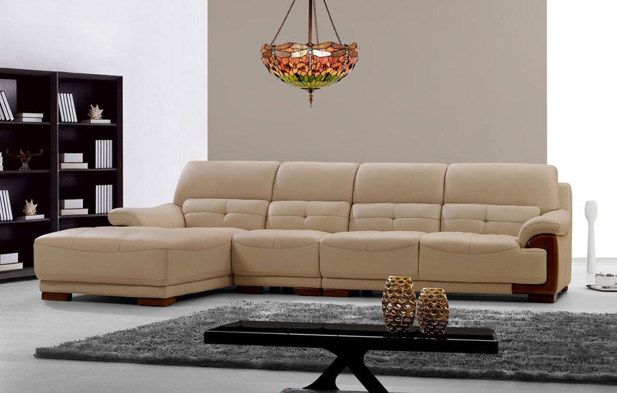 Ghế salon phòng khách hiện đại, chất liệu da công nghiệp