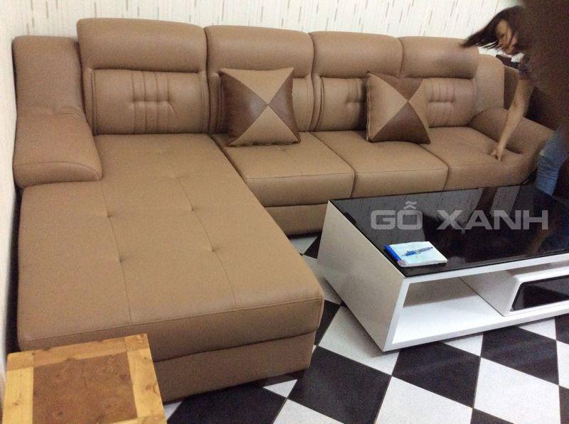 ghế sofa da phòng khách hiện đại 5