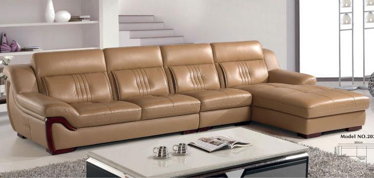 Ghế sofa da cho phòng khách hiện đại sang trọng