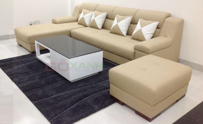 Hình ảnh thực tế ghế sofa phòng khách chụp tại nhà khách hàng
