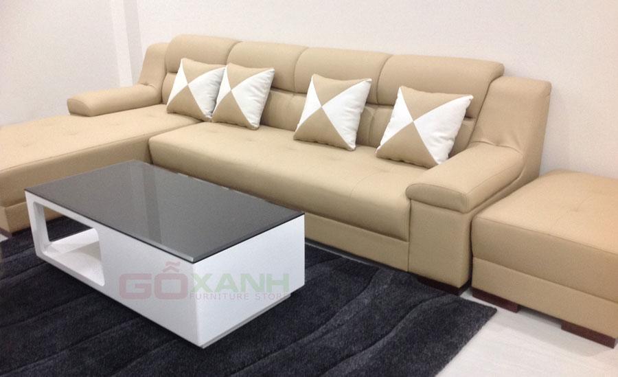 Hình ảnh thực tế ghế sofa phòng khách chụp tại nhà khách hàng 1