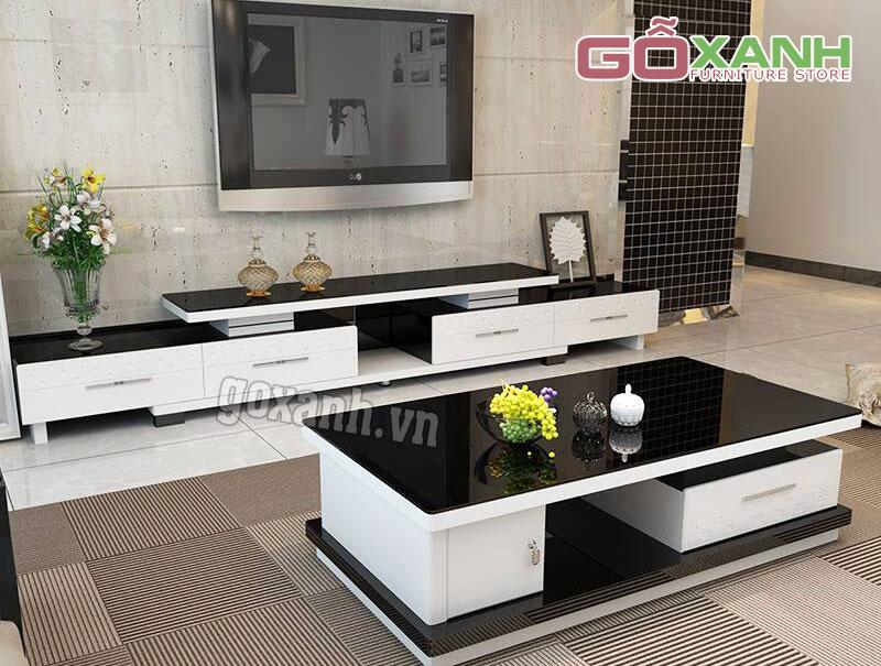 Kệ tivi và bàn sofa đẹp, Bộ kệ tivi và bàn trà hiện đại