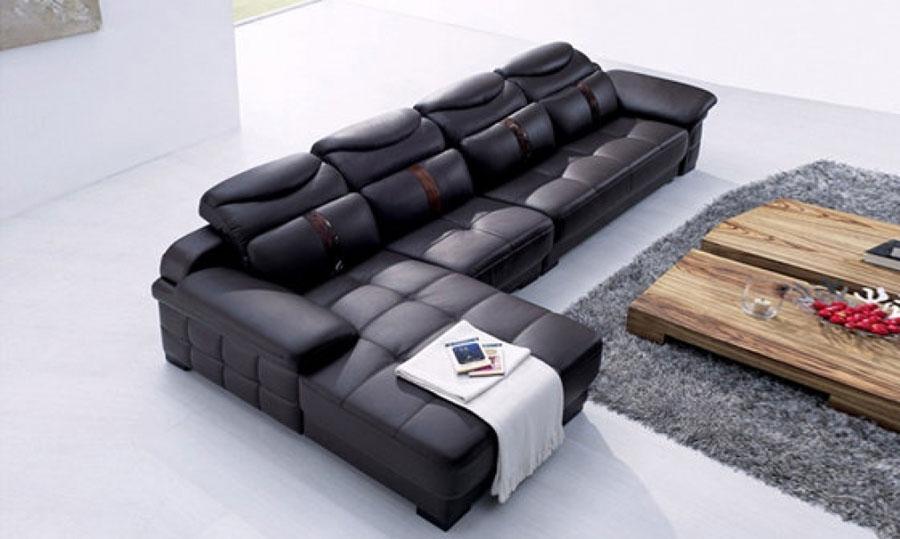 Tổng kho sofa Gỗ Xanh: Bộ sofa cao cấp màu đen