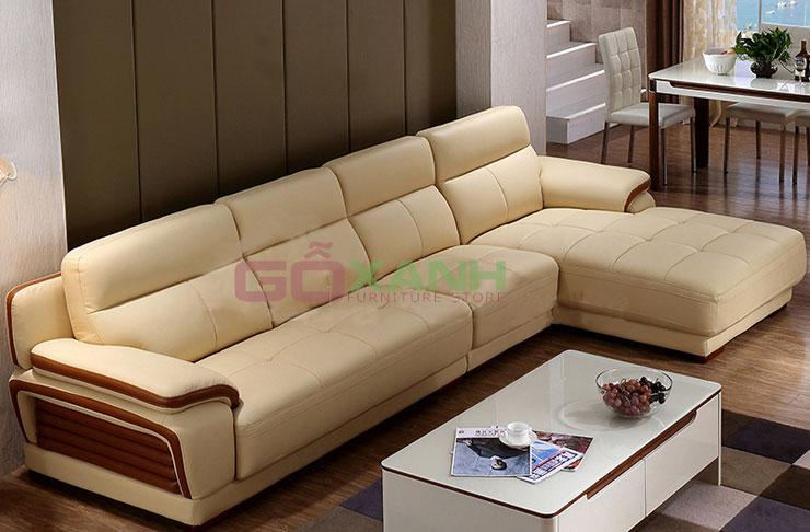Sofa kiểu dáng đẹp Tphcm, mua sofa tặng bàn trà kính
