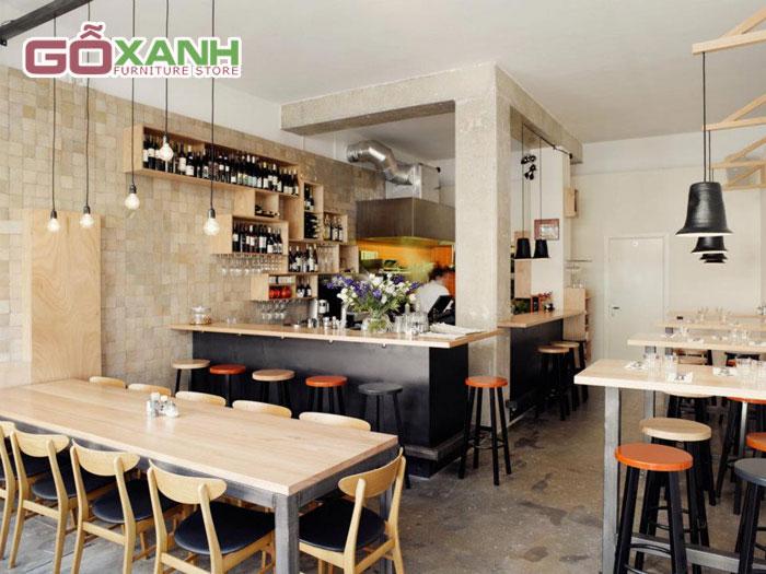 Công ty sản xuất bàn ghế quán cafe phong cách hiện đại TPHCM
