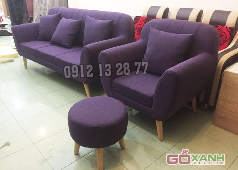 Làm mới không gian phòng khách với bộ ghế sofa vải trẻ trung, hiện đại