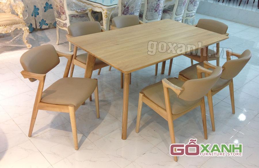 Mua trọn bộ bàn ghế ăn gỗ sồi với giá cực ưu đãi tại Gỗ Xanh