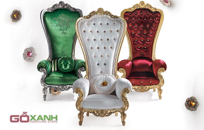 Những kiểu ghế Vua, ghế Nữ Hoàng sang chảnh đang sốt xình xịch