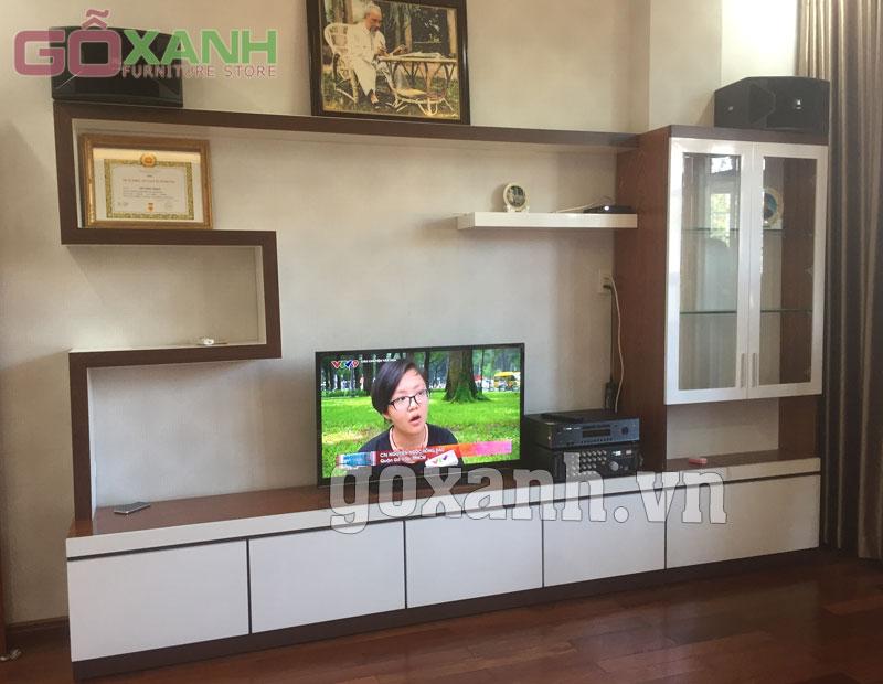 Những mẫu kệ tivi hiện đại thi công lắp ráp tại nhà khách